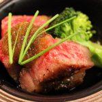牛肉のサイコロステーキ